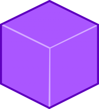 High Resolution Cube 3D Purple Box PNG images