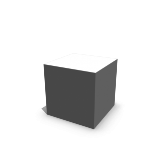 White And Shaded Cube 3d PNG images