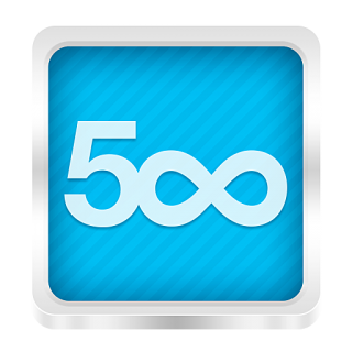 Blue 500px Icon Png PNG images
