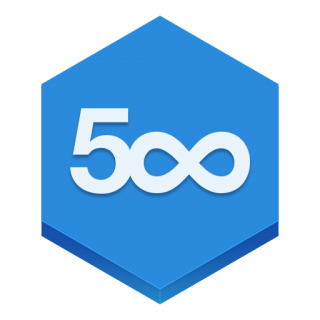 Blue Shapes 500px Icon Png PNG images