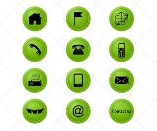 Address Icon Contact Icons Set PNG images