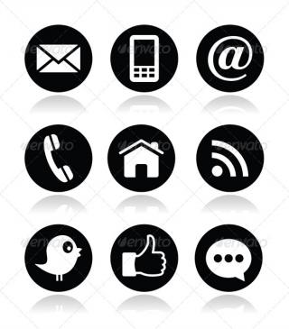 Contact, Web, Blog And Social Media Round Icons Web Technology PNG images