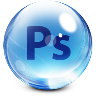 Glassy Adobe Photoshop Icon PNG images