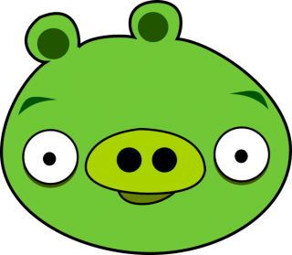 Green Pig Angry Birds Character PNG images