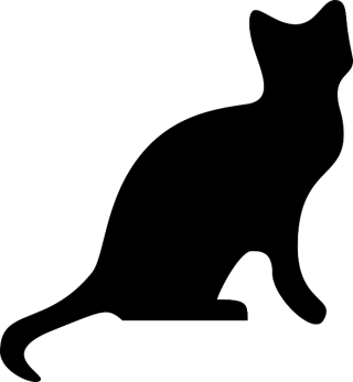 ANIMALS, CAT, HEAD, PEOPLE, PROFILE, SILHOUETTE Public Domain PNG images