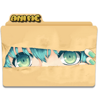 Beige Anime Folder Icon PNG images