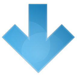 Blue Arrow Down Icon Png PNG images