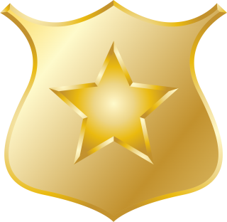 Gold Police Badge Icon PNG images