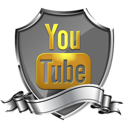 Youtube Shield Badge Social Icon PNG images