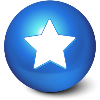 Blue Star Ball Favorites Icon Png PNG images