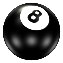 Pool Ball 8 Icon PNG images