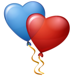 Hearts Balloons Icon PNG images