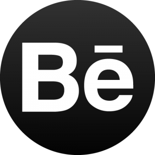 Behance Black Circle Icon PNG images