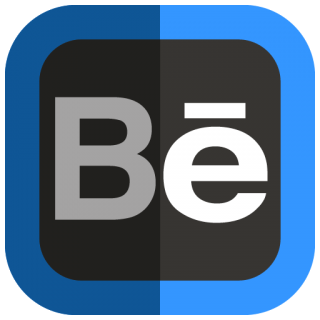 Behance Blue And Black Icon PNG images