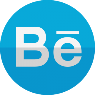 Behance Blue Circle Icon PNG images