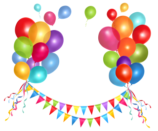 Birthday Party Balloons PNG Photo PNG images