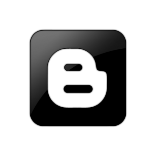 Black Square Blogger Logo Icon Png PNG images