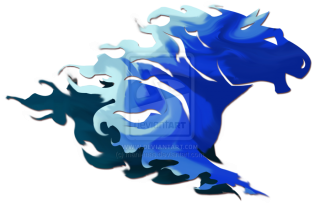 Blue Horse Fire Png PNG images
