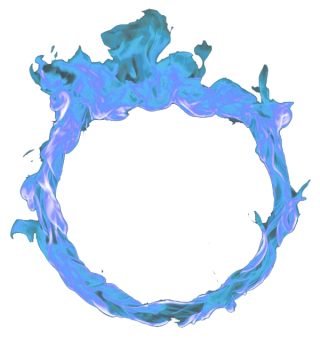 Circle Blue Fire Png PNG images