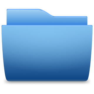 Places Folder Blue Icon PNG images