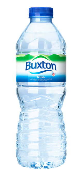 Buxton Brand Plastic Water Bottle PNG Image PNG images