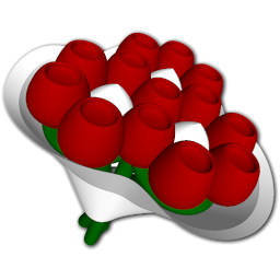 Red Rose Bouquet Icon PNG images