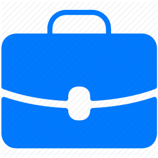 Brief Bag Blue Icon PNG images