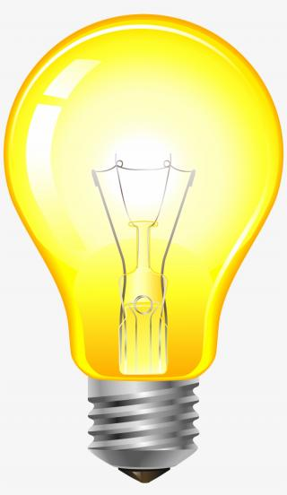 Clip Art Yellow Light Bulb Png PNG images