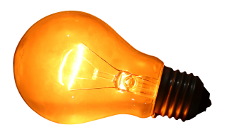 Glowing Yellow Light Bulb Png PNG images