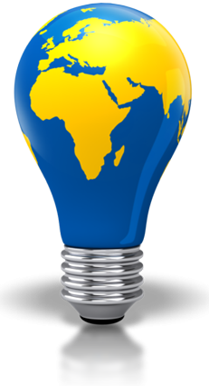 Light Bulb World Map PNG Picture PNG images