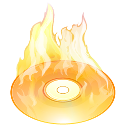 Burn Disk Size Icon PNG images