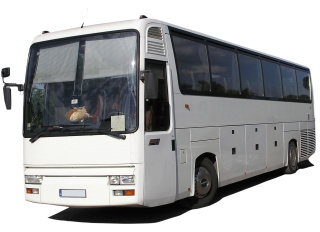 White Tour Bus Png Image PNG images