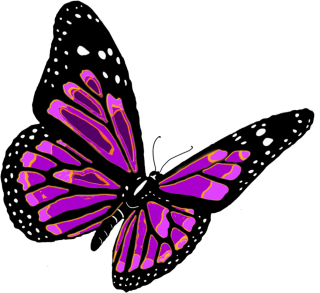 Flying Purple Butterfly PNG PNG images