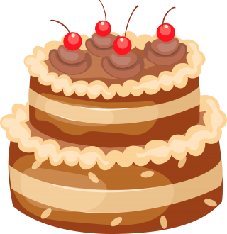 Cherries Cake Png PNG images