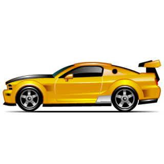 Yellow Muscle Car Icon Png PNG images
