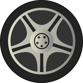 Simple Car Wheel Tire Rims Side View By Qubodup Just A Wheel Side PNG images
