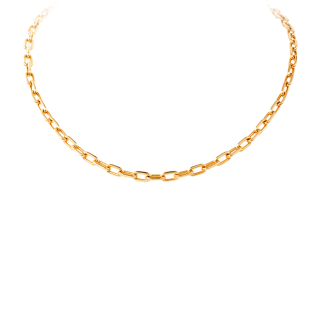 Gold Link Chain Necklace PNG PNG images