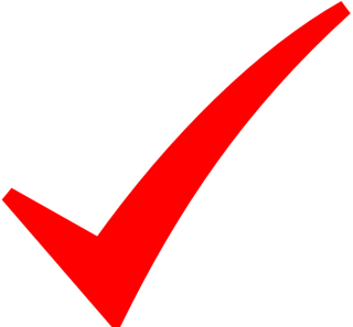 Check Mark Red PNG images