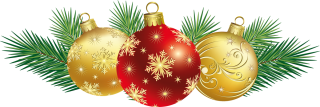 Christmas Balls With Decor Png PNG images