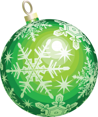 Green Christmas Balls Png PNG images