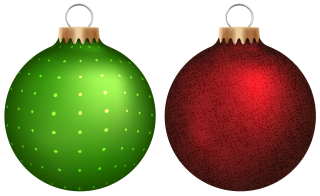 Green Red Christmas Balls Png PNG images