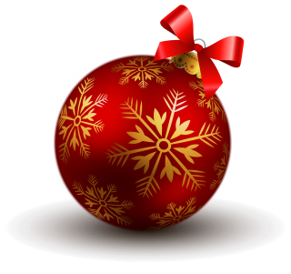 Red Christmas Balls Png PNG images