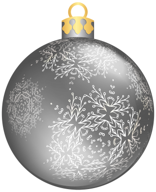 Silver Christmas Ball PNG Transparent Images PNG images