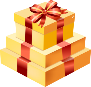 Vector Christmas Gift Drawing PNG images