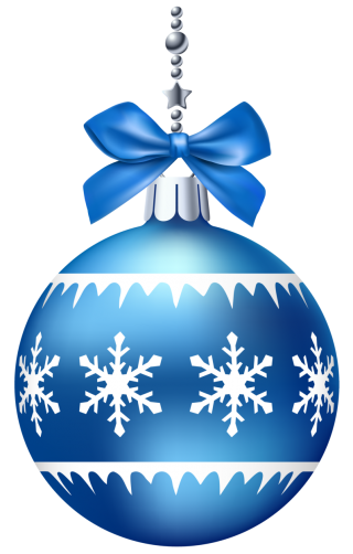 Blue Christmas Ornaments Photo PNG images