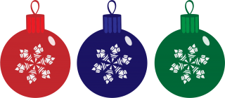 Christmas Ornaments, Red, Blue, Green PNG images