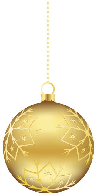 Gold Christmas Ornaments PNG Clipart PNG images