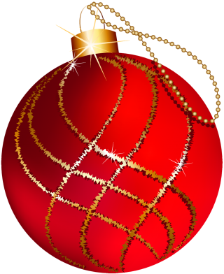 Red Christmas Ornaments Background PNG images