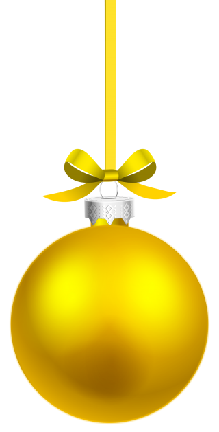 Yellow Christmas Ornaments Vector Png PNG images