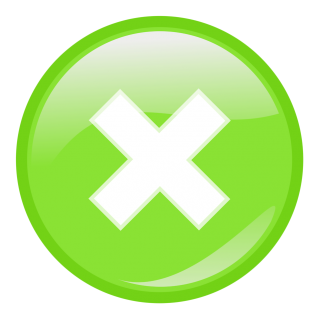 Green Cancel Close Button Png PNG images